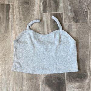 Women's Topshop crop top - grey